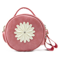 Wholesale Fashion Handbags Flowers - Fashion handbags daisy flowers cosmetic bag women zipper multi - functional shoulder bag Coin Purse cosmetic bag