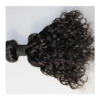 tissage de cheveux en malaisie achat en gros de-Cheveux brésiliens Brésilien Indien Malaisien Péruvien Natural wave avec fermeture Brazillian armure faisceaux 100% vierge cheveux humains livraison gratuite