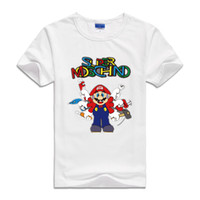 Wholesale Fashion Shirt For Kids Girls - 2017 Kids Infant Tees Clothes Cartoon japan for Mario brothers Baby Boys Sweatshirts short Sleeve Children T shirts Cotton Girls Tops