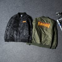 Wholesale Black Jacket Men Flame - Tide brand autumn and winter new flame Europe and the United States street suitcase cotton men and women couples jacket