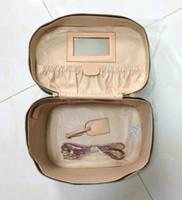 Wholesale Brush Travel Case - 2018 Travel brown MakeUp Bags Women shoulder bag Brush Necessaries Cosmetic Bag Travel Toiletry Storage Box Makeup Bag Wash Organizer Cases