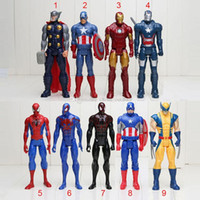 Wholesale Ironman Action Figures - High Quality 30cm Marvel Heros Wolverine Captain America Ironman Spider-Man The First Avenger PVC Action Figure