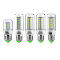 Wholesale E14 48 Led - LED Light Corn Bulb SMD5730 Lamp LED Bulbs E27 E14 GU10 B22 G9 Corn lamp 24 36 48 56 72LEDs Decorated Chandelier Lights
