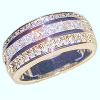Wholesale men rings gem - Fashion 10KT White Gold filled Rings Square Diamond Simulated Zirconia Gem Stone Engagement Wedding Anniversary Band Jewelry for Men Women