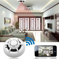 p2p rauchmelder wifi kamera großhandel-HD 1080P Wireless Kamera Rauchmelder P2P Wifi Kamera Video Recorder Indoor DV Sicherheit Überwachung Camcorder für Home Kids Remote View
