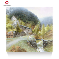 Wholesale Hand Painted Scenery Oil Painting - Hand painted traditional oil painting village classical scenery