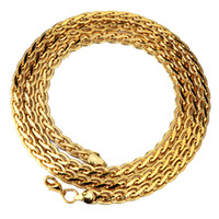 Wholesale Vintage Snail - Gold Plated Chain for Men Hiphop Necklace Jewelry Wholesale Trendy Party Gift 6.5MM Width Vintage Snail Chain Necklace