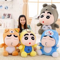 Wholesale anime doraemon - Japanese Anime Crayon Shin chan Plush Toys Super Soft Doraemon Totoro Stuffed Plush Animals Kawaii Cartoon Action Figure Dolls