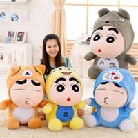 Wholesale plush crayons online - Japanese Anime Crayon Shin chan Plush Toys Super Soft Doraemon Totoro Stuffed Plush Animals Kawaii Cartoon Action Figure Dolls
