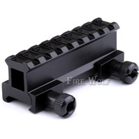 Wholesale picatinny tactical accessories online - 8 Slot Tactical Hunting Scope Riser Base Mount mm Adapter Bracket Dovetail Weaver Mount Picatinny Rail Hunting Accessories
