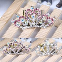 Wholesale Tungsten Blue Diamond Ring - 2017 wholesale selling hair color Diamond Ladies bride crown crown free delivery