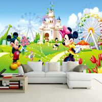 Wholesale 3d Pictures Wall Art - Wholesale- Custom 3D Photo Wallpaper Cartoon Animation Children's Room Decorative Murals Pictures Wall Art Panels Bedroom Mural Wallpaper