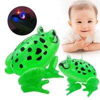 детские игрушки для мальчиков оптовых-Надувная лягушка с легкой нитью ПВХ Надувные светодиодные воздушные шары для животных Классический Blow Up Kids Party Toys OOA3574
