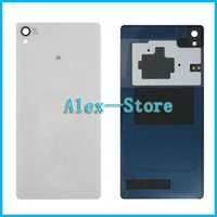 Wholesale Housing Xperia - Z3 Rear Back Glass Cover Housing For Sony Xperia Z3 D6603 D6643 D6653 D6616 D6633 Tempered Glass Back Cover + NFC Battery Door Housing
