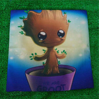 Wholesale Hotel Galaxy - Heroes Guardians of the Galaxy Groot Pillow Case Cushion cover Linen Cotton Throw Pillowcases sofa Bed Car Decorative Pillowcover