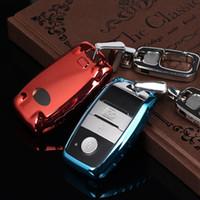 Wholesale K3 Cerato - Car styling soft TPU car key fob cover case for kia rio sportage 2016 ceed sorento cerato K2 K3 K4 K5 smart remote key Free ship
