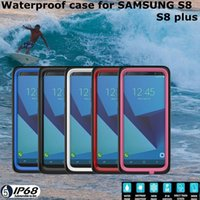 Wholesale New Arrival Mobile Phone Cases - 2017 NEW Arrival Waterproof Mobile phone Case ultra-thin Snowproof Shell with fingerprint for Samsung Galaxy S8 S8Plus with retail package