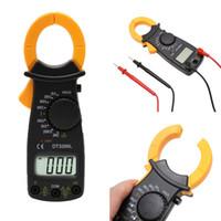 multímetro de voltaje al por mayor-Medidor de pinza de voltaje de corriente alterna, corriente continua, corriente alterna, multímetro, voltaje actual, probador + cable