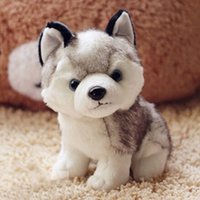 Wholesale Cute Plush Dog Toys - Wholesale- 2016 Super Cute 18cm Puppy Stuffed Doll Plush Toys Simulation Husky Dogs Kids Appease Doll Brinquedos