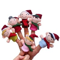 Wholesale Christmas Finger Puppets Story - Wholesale-Best seller 6pc Story Time Christmas Claus and Friends Finger Puppets Toy 51015
