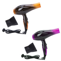 Wholesale Dc Heat - Professional Salon Tools Blow Dryer Heat Super Speed Blower Dry Hair Dryers US Plug Gold Purple