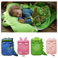tier schlafsäcke kleinkinder großhandel-reizende Karikaturbabybettwäsche Babyschlafsack Kinderschlafsack Säuglingskleinkindwinterschlafsackkarikaturtiere Schlafbeutel 0 1 2 3 4 Jahr