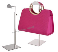 Wholesale Purse Bag Rack - Free shipping high quality stainess steel handbag display stand wig hat purse bag display holder rack shelf adjustable hanger hooks 5pcs