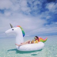 Wholesale Big Size cm Inflatable Floats Inflatable Unicorn Flamingo Pool Toys Inflatable Giant Swan Swimming Pool Ride on Floats Pool Water Toy
