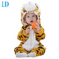 Wholesale One Piece Baby Winter - IDGIRL Baby Flannel Rompers Autumn Winter Baby Clothes Newborn Clothing Infant Clothes One Piece Romper JY0192