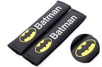 Wholesale wrc car style online - 2PCS Pair New Car Safety Seat Belt Cover Batman WRC Superman Design Soft Strap Protector Cover Car Styling