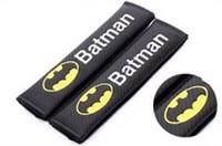 Wholesale Batman Car Seat - 2PCS Pair New Car Safety Seat Belt Cover Batman WRC Superman Design Soft Strap Protector Cover Car Styling