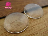 Wholesale Glass Cabochons Tray Pendant Cover - 10pcs lot Wholesale clear glass cabochons tray pendant cover 50mm Round Cabochons