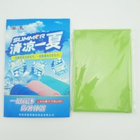 Wholesale Multi Cool Towel - 2017handkerchiefs Multicolor 100*30cm Ice Utility Enduring Instant Cooling Towel Heat Relief Reusable Chill Cool Towel Cold towel