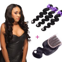 Wholesale Wholesale Weave Distributors - Wholesale distributor brazilian malaysian indian peruvian hair real human 3 bundles body weaves with closure free shipping