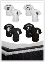 Wholesale Majestic - 2017 Men's Chicago White Sox Michael J ordan 45# Todd Frazier 21# jerseys Majestic Black Alternate Cool Base Player Jersey 100% stitched