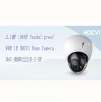 Wholesale Outdoor Vandal Dome Camera - DAHUA Security Camera 2.1MP 1080P FULL HD Vandal-proof WDR IR HDCVI Dome Camera IP67 Without Logo HAC-HDBW2221R-Z-DP