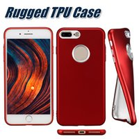 Wholesale Transparent Cellphone Cases - For Iphone 8Plus 7Plus Soft TPU Cases Galvanized Cellphone Cases Eye-caring Rugged Full Protection Case Not Transparent With OPP Bag
