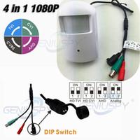 Wholesale Pir Security Camera - New Sony 323 Senor 4 IN 1 HD-TVI CVI AHD 2MP 1080P IR Security Covert Pir Camera 960H With 23Pcs 850nm IR Leds&IR-CUT