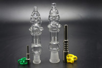 Wholesale Nails Technology - 2017 New Design Mini Nectar Collector Kit 10mm 14mm With Titanium Nail Quartz NailMini Glass Water Bongs Pipes Switch-hit Technology Vape