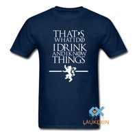 Wholesale Wholesale Drinking Games - Wholesale- Game of Thrones T Shirts That's What I Do I Drink and I know Things T-Shirt Mens Womens Novelty Summer Style Camisetas Shirt