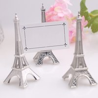 Wholesale Beautiful Crafts - Seat Card Clip Eiffel Tower Shape Beautiful Message Clips Creative Memo Folder Table Decor Wedding Ceremony Craft Gift 4 5yk F R