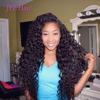 Wholesale Virgin Burmese Hair Deep Wave - Full Lace Human Hair Wigs Brazilian Malaysian Virgin hair Human Lace Front Wigs Fashion Deep Wave Hair with adjustable strands