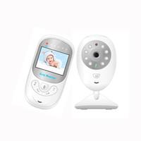 monitor inalámbrico portátil al por mayor-Wireless Baby Monitor 2.4G Camera 2.4 pulgadas LCD Audio Vedio Display Portable Nightvision Digital Home Camera Monitor