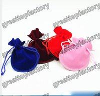 Wholesale Velvet Jewelry Pouch Gourd - Jewelry Calabash Drawstring Velvet Jewelry Bag Gift Bag Gourd Gift Packing Pouch 9*12cm Size Multi-color optional