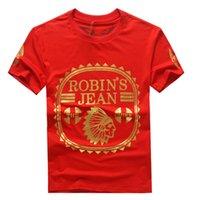 Wholesale Designer Fashion Tshirts - 2017 New Arrive United States tide brand Robin jeans mens t shirts men's short sleeve designer clothing Tshirts for men