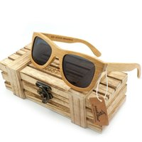 Wholesale Wholesale I Love Haters Products - 2017 New fashion Products Vintage Wood Sunglasses Polarized Sunglasses Men Women Real Bamboo Wood Eyewear Wooden Frame Hand Made Sunglasses
