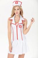 Wholesale Nurse Maid Uniform - Sex Maid Cosplay Sexy Lingerie Women Hot Nurse Uniform White Erotic Lingerie Sexy Maid Costumes Sexy Porn Babydoll Lingerie