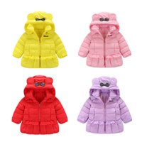 outlet coats - Factory Outlet autumn and winter latest children down jacket girls Flounced hooded down jacket kids winter wear