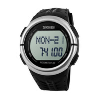 Wholesale Measurement Battery - SKMEI Men's Sport Heart rate measurement Waterproof Fashion Black Band Watch