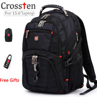 Wholesale Style Laptops - Wholesale- Top quality Swiss Multifunctional laptop bag Backpack for 15.6 inch laptop Schoolbag Travel Bags 8112